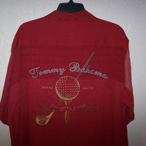 TOMMY BAHAMA Shirts - TOMMY BAHAMA EMBROIDERED 100% SILK SHIRT S1978